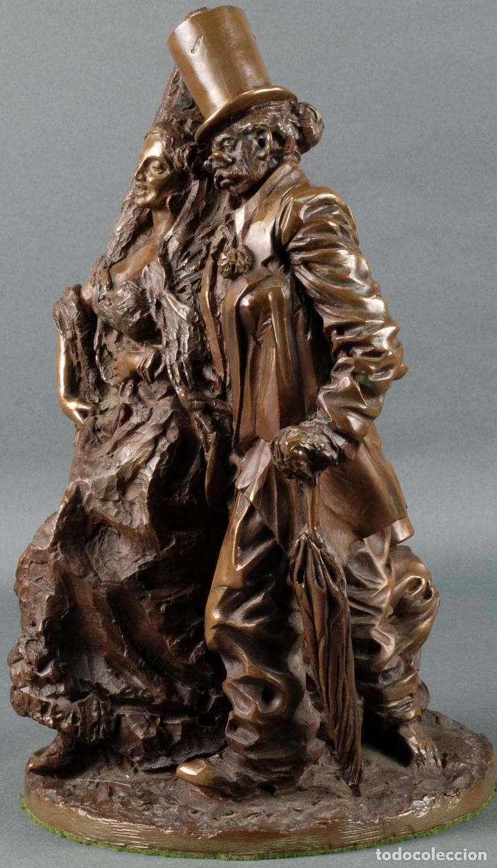 Arte: Escultura Carnaval en bronce Vicente Menendez Prendes Santarua 2/40 certificado autenticidad - Foto 2 - 142076006