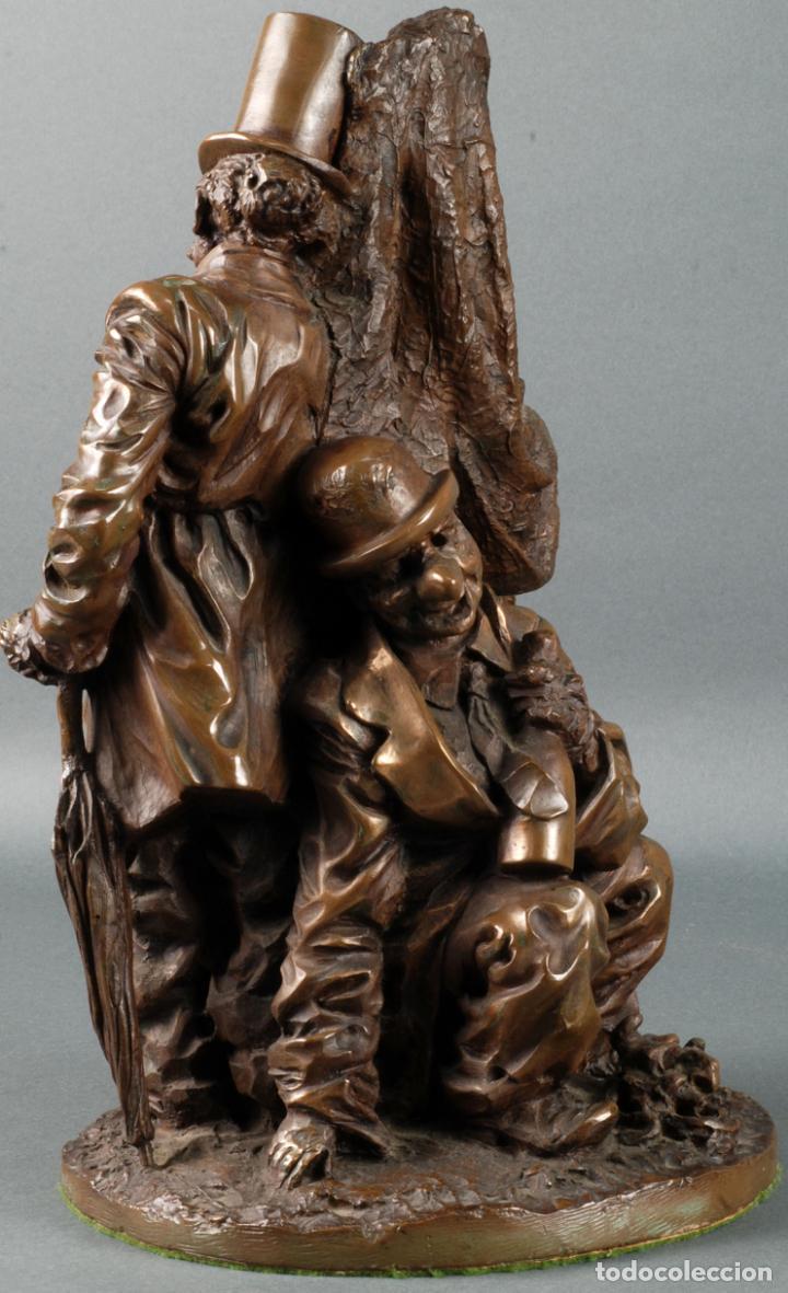 Arte: Escultura Carnaval en bronce Vicente Menendez Prendes Santarua 2/40 certificado autenticidad - Foto 3 - 142076006