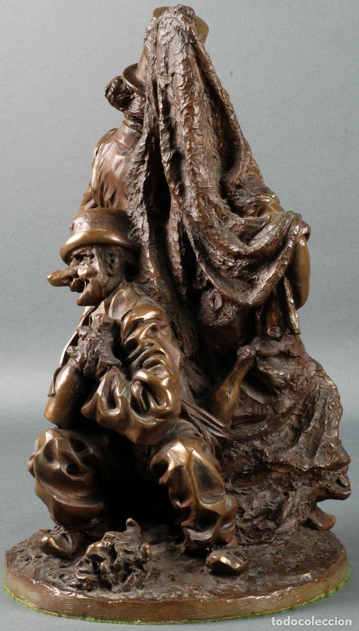 Arte: Escultura Carnaval en bronce Vicente Menendez Prendes Santarua 2/40 certificado autenticidad - Foto 4 - 142076006