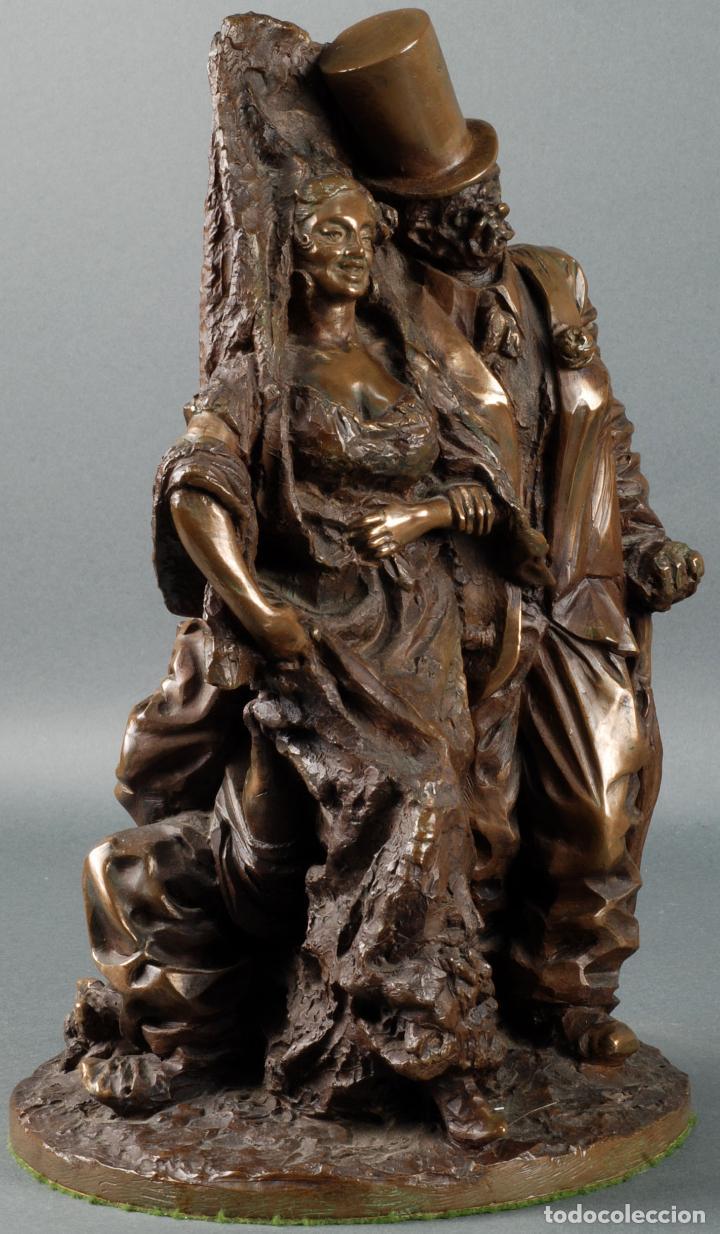 Arte: Escultura Carnaval en bronce Vicente Menendez Prendes Santarua 2/40 certificado autenticidad - Foto 5 - 142076006