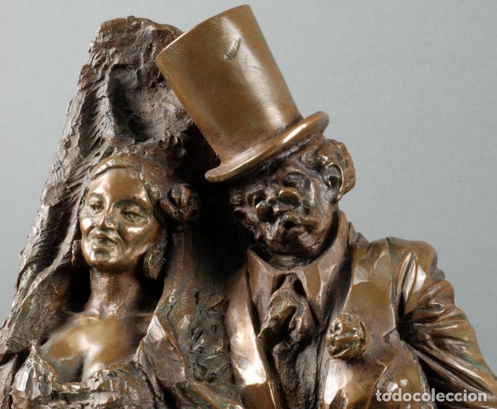 Arte: Escultura Carnaval en bronce Vicente Menendez Prendes Santarua 2/40 certificado autenticidad - Foto 6 - 142076006