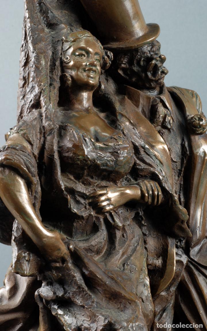 Arte: Escultura Carnaval en bronce Vicente Menendez Prendes Santarua 2/40 certificado autenticidad - Foto 7 - 142076006