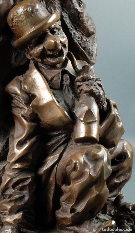 Arte: Escultura Carnaval en bronce Vicente Menendez Prendes Santarua 2/40 certificado autenticidad - Foto 8 - 142076006