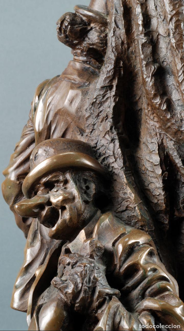 Arte: Escultura Carnaval en bronce Vicente Menendez Prendes Santarua 2/40 certificado autenticidad - Foto 9 - 142076006