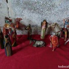Arte: LOTE DE FIGURAS DE BELEN DE BARRO O CERAMICA ,MUY ANTIGUAS. Lote 142483954