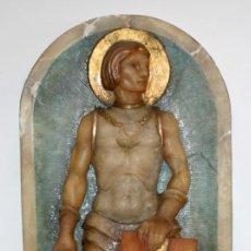 Arte: SENSACIONAL PLAFON DE SAN JORDI EN ALABASTRO DE APROXIMADAMENTE 1900. Lote 142568714