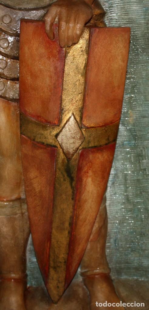 Arte: SENSACIONAL PLAFON DE SAN JORDI EN ALABASTRO DE APROXIMADAMENTE 1900 - Foto 6 - 142568714