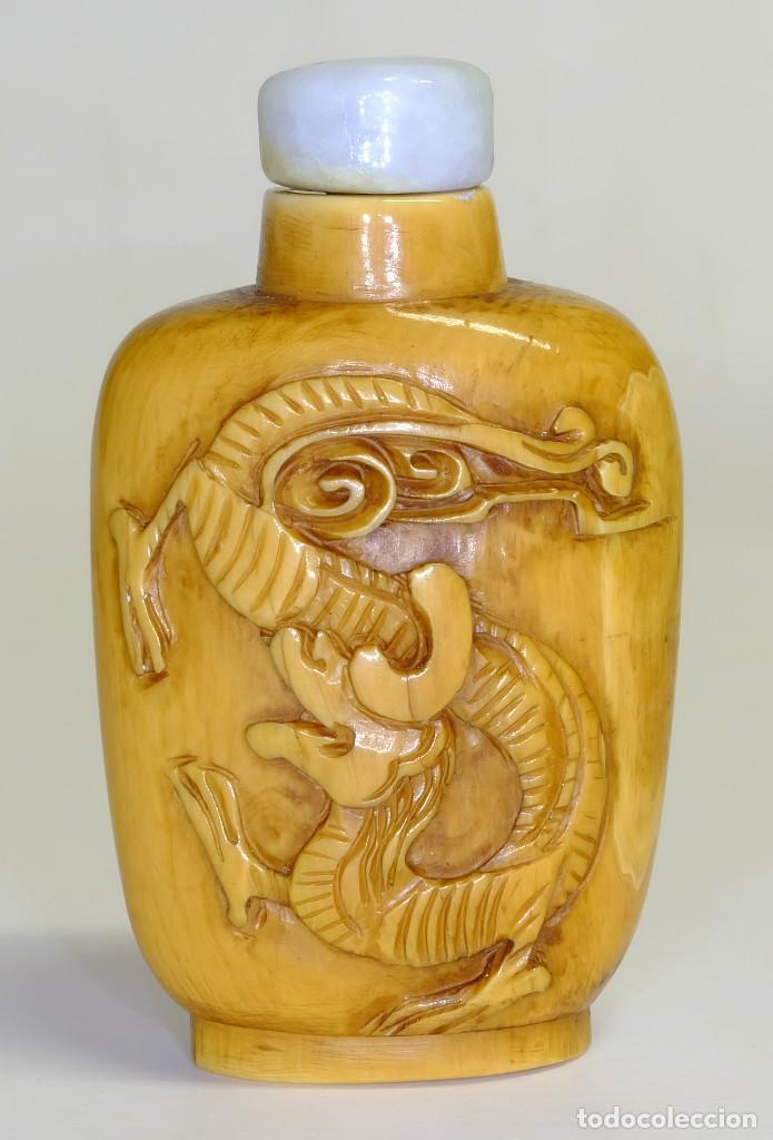 Arte: S.XIX - Antiguo perfumero o caja de opio o rapé ( snuffbox ) chino en miniatura en marfil - Foto 2 - 142695302