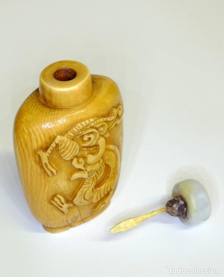 Arte: S.XIX - Antiguo perfumero o caja de opio o rapé ( snuffbox ) chino en miniatura en marfil - Foto 3 - 142695302
