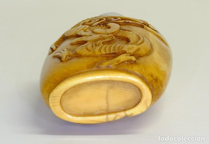 Arte: S.XIX - Antiguo perfumero o caja de opio o rapé ( snuffbox ) chino en miniatura en marfil - Foto 4 - 142695302