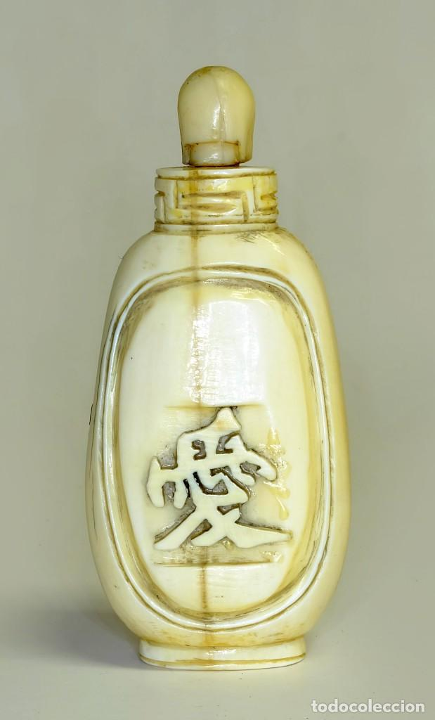 Arte: S.XIX - Antiguo perfumero o caja de opio o rapé ( snuffbox ) chino en miniatura en marfil - Foto 2 - 142696770