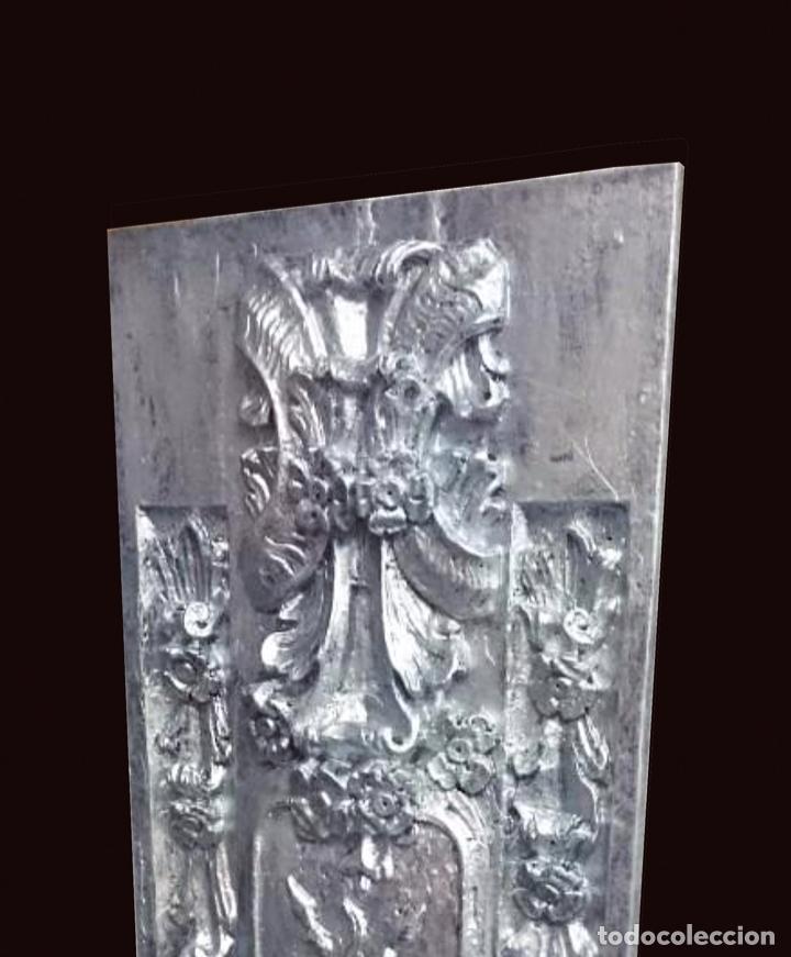 Arte: Antigua tabla plata de resina antigua , similar a un retablo , hotel meliá Zaragoza - Foto 2 - 142881230