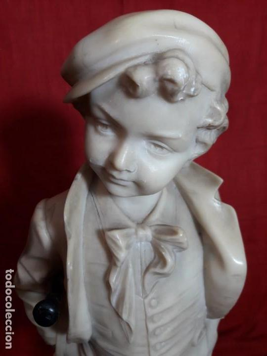 Arte: Escultura alabastro niño - Foto 2 - 143626362