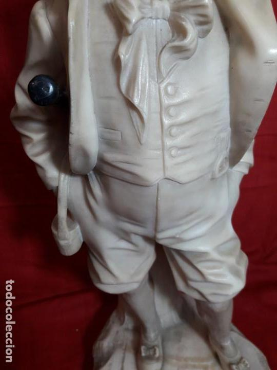 Arte: Escultura alabastro niño - Foto 4 - 143626362