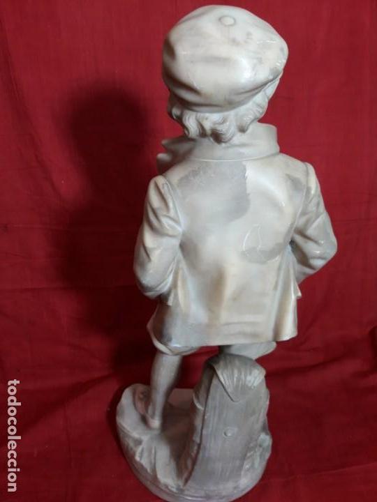 Arte: Escultura alabastro niño - Foto 6 - 143626362