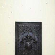 Arte: ESCULTURA DE MADERA - ESCUDO ÁGUILAS IMPERIALES TALLADOS. Lote 143728294