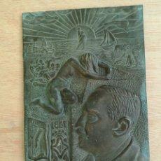 Arte: PLACA DE BRONCE V.BLASCO IBAÑEZ 1867-1928. Lote 143810450