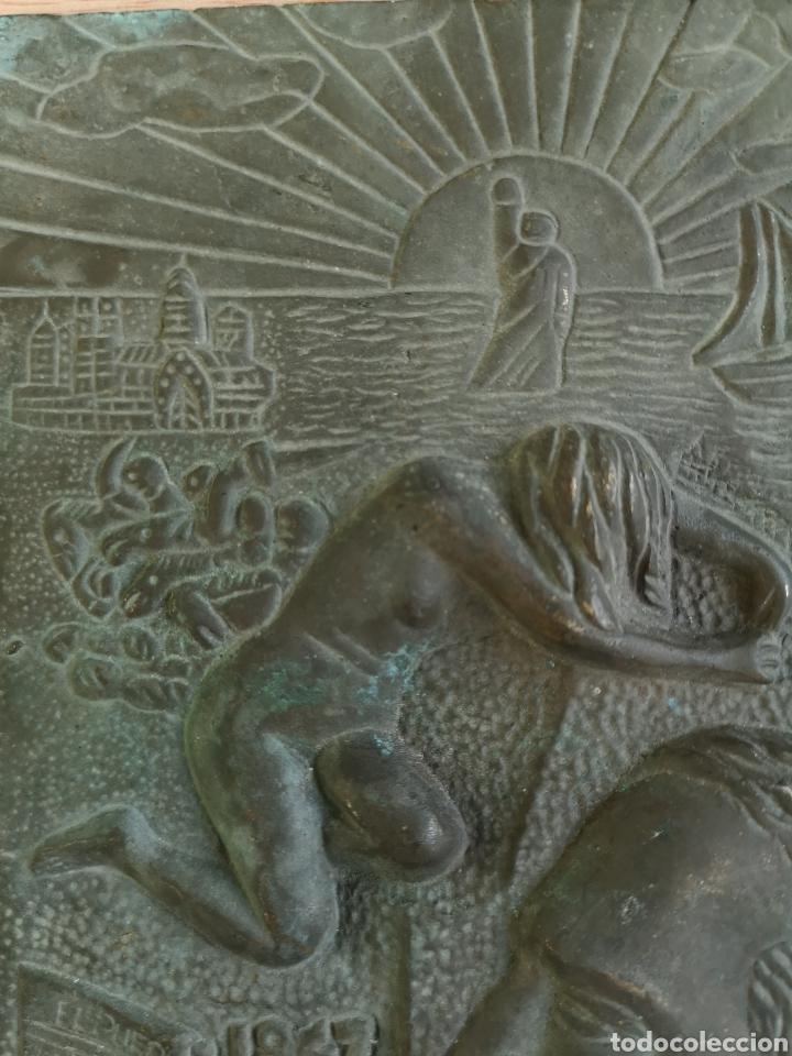 Arte: placa de bronce v.blasco ibañez 1867-1928 - Foto 3 - 143810450