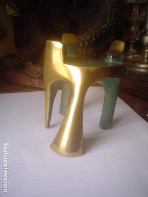 Arte: escultura modernista en bronce firmada del famoso artista fidel GOAS - Foto 11 - 143983654