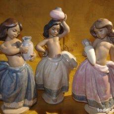 Arte: CONJUNTO 3 FIGURAS - PORCELANA DE LLADRÓ - AGUADORAS. Lote 144101246