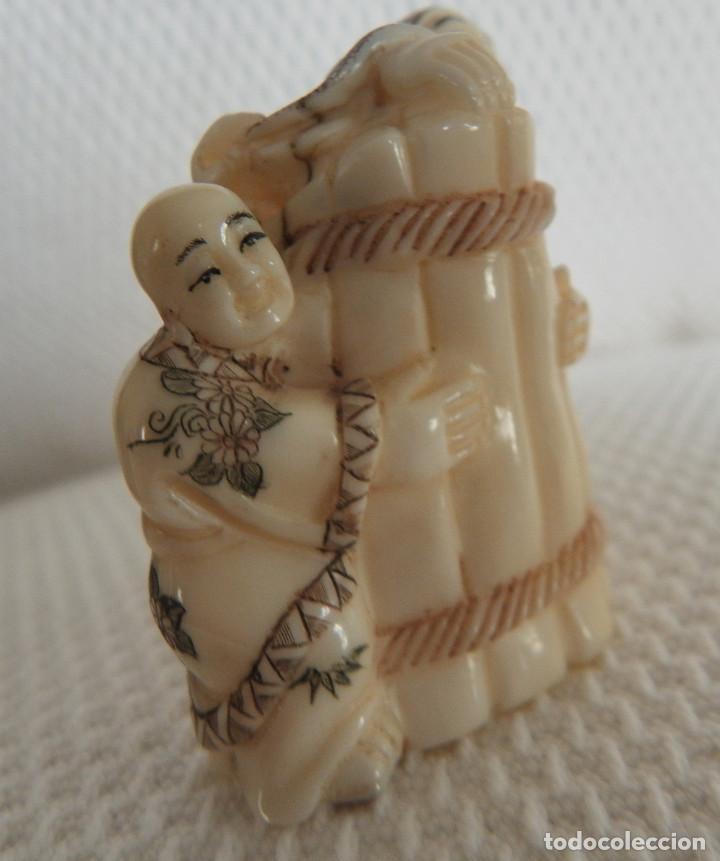 Arte: Netsuke de marfil/Mamut. Sin desperfectos. Aprox. 1940/50. Japón - Foto 4 - 144143558