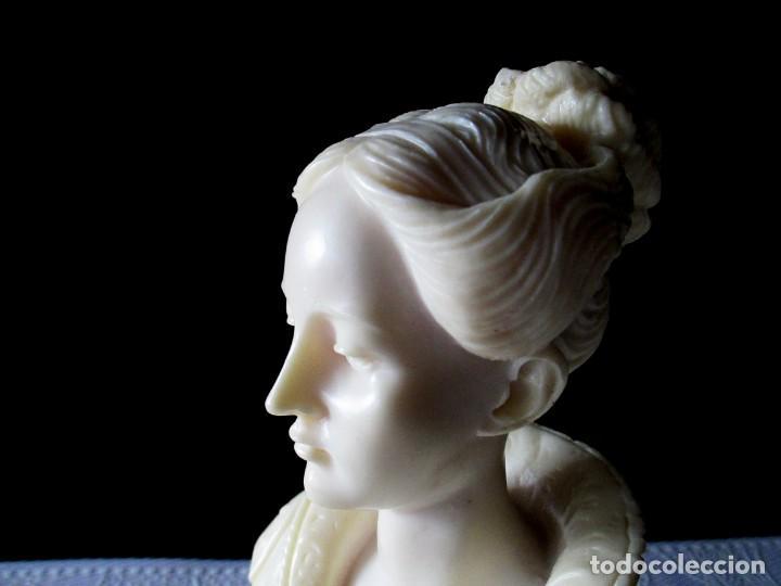 Arte: UNICO BUSTO DE JOVEN EN GALALITA ART NOUVEAU O PRERAFAELITA - Foto 3 - 144221698