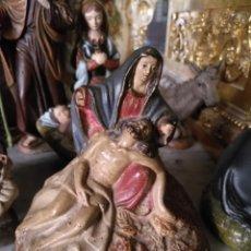 Arte: IMAGEN TERRACOTA MURCIANA BARRO POLICROMADO SIGLO 19 VIRGEN ANGUSTIA PIEDAD MURCIA CARTAGENA CARIDAD. Lote 144453194