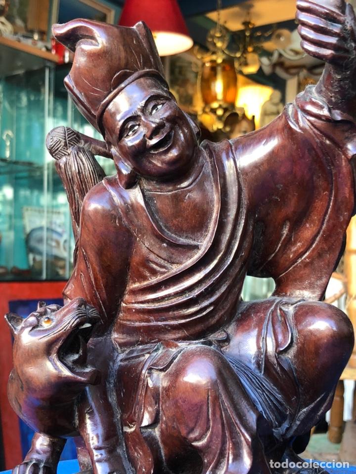 Arte: Figura tailandesa tallada en madera - Foto 2 - 144463402