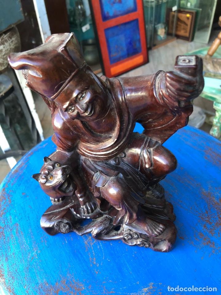 Arte: Figura tailandesa tallada en madera - Foto 3 - 144463402
