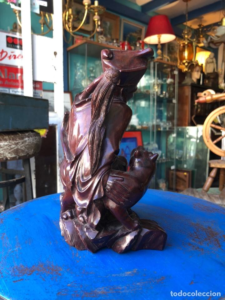 Arte: Figura tailandesa tallada en madera - Foto 5 - 144463402