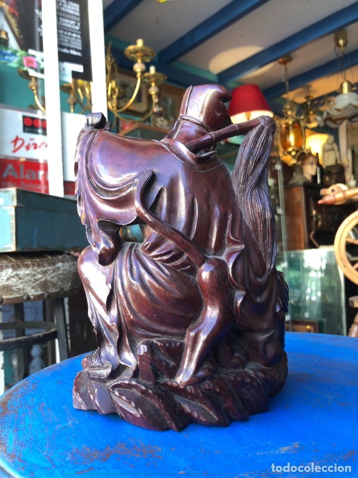 Arte: Figura tailandesa tallada en madera - Foto 6 - 144463402