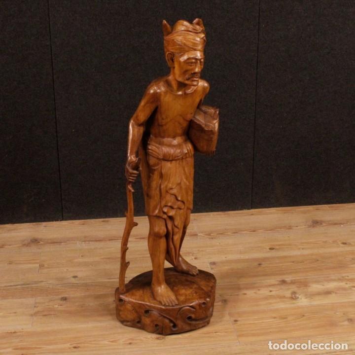 ESCULTURA INDIANA EN MADERA DEL SIGLO XX (Arte - Escultura - Madera)