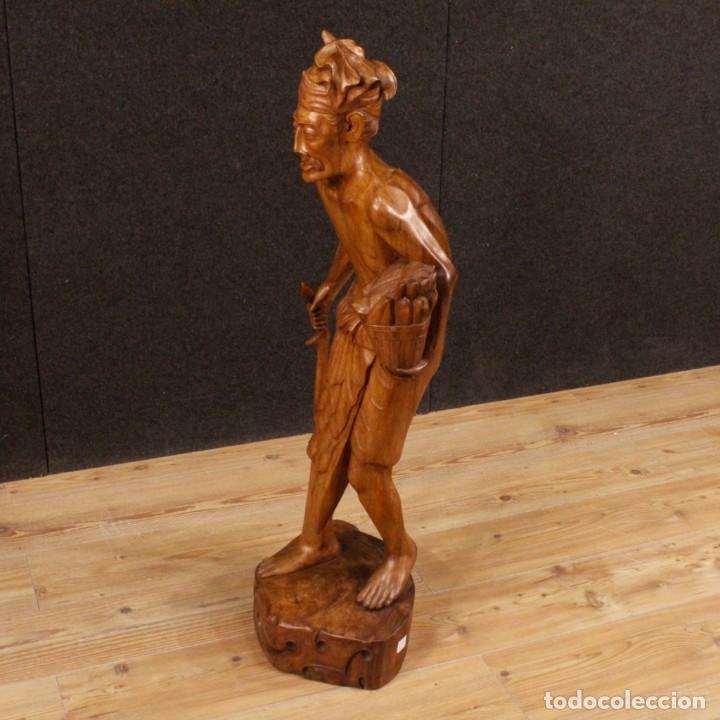 Arte: Escultura indiana en madera del siglo XX - Foto 3 - 144666442