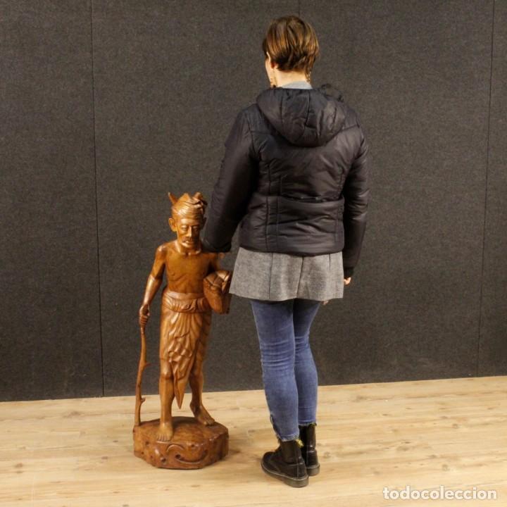 Arte: Escultura indiana en madera del siglo XX - Foto 5 - 144666442