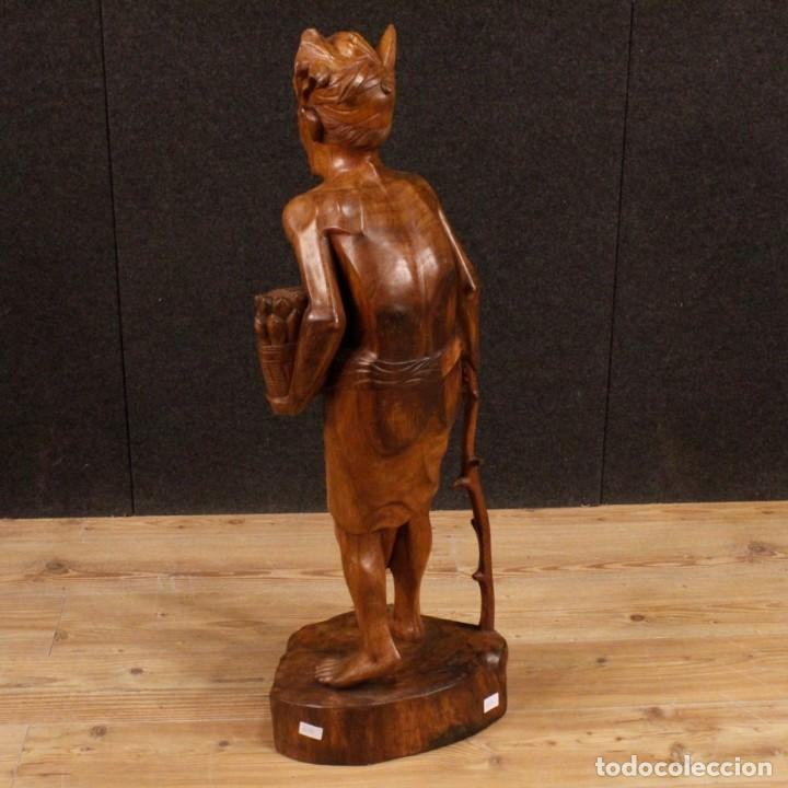 Arte: Escultura indiana en madera del siglo XX - Foto 7 - 144666442