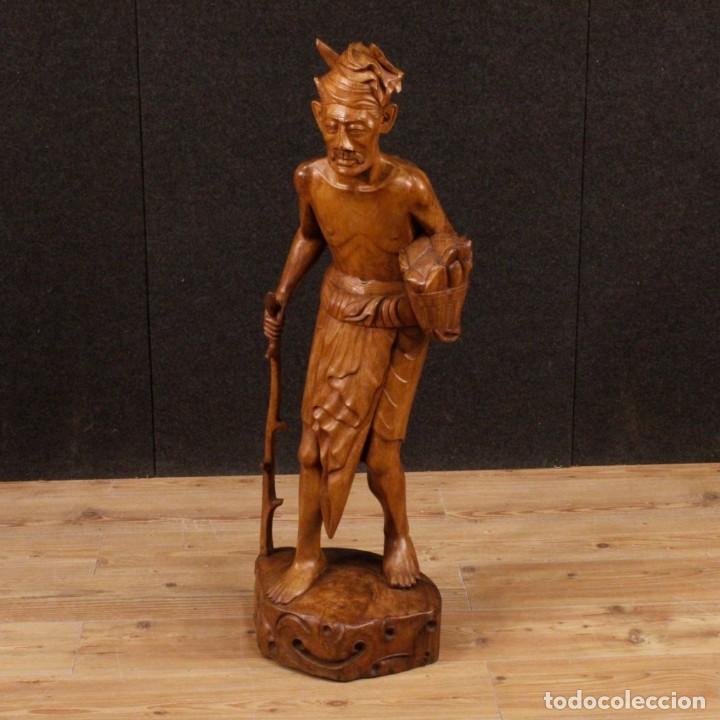 Arte: Escultura indiana en madera del siglo XX - Foto 11 - 144666442