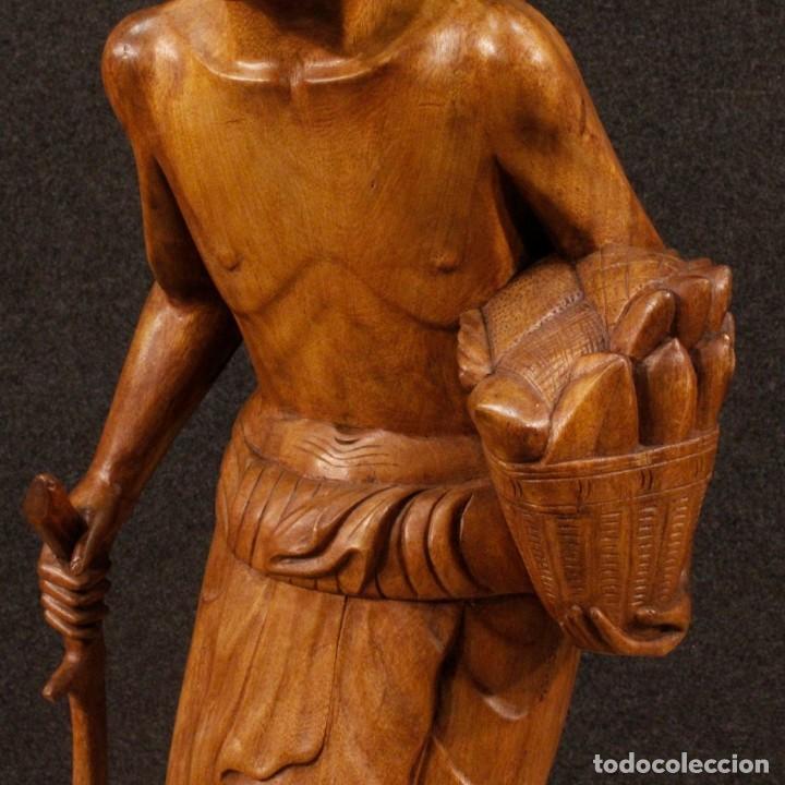 Arte: Escultura indiana en madera del siglo XX - Foto 12 - 144666442