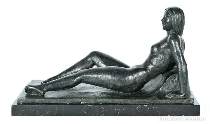 Arte: DESNUDO - Escultura en bronce con peana de mármol, ejemplar III/VI - Foto 2 - 144959866