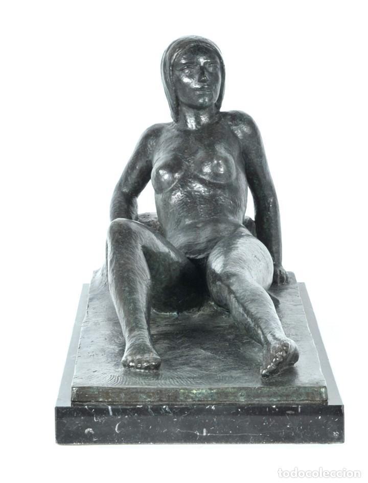 Arte: DESNUDO - Escultura en bronce con peana de mármol, ejemplar III/VI - Foto 4 - 144959866