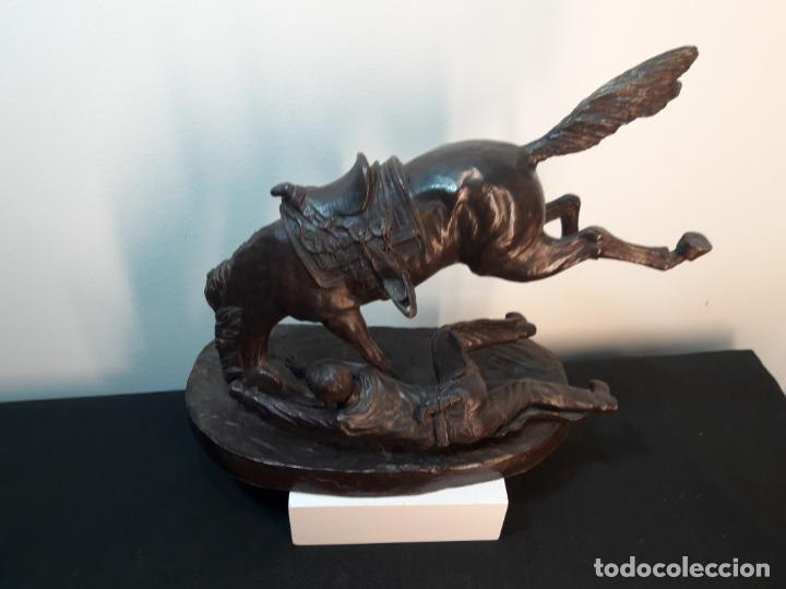 BRONCE AMERICANO CABALLO CON JINETE (Arte - Escultura - Bronce)