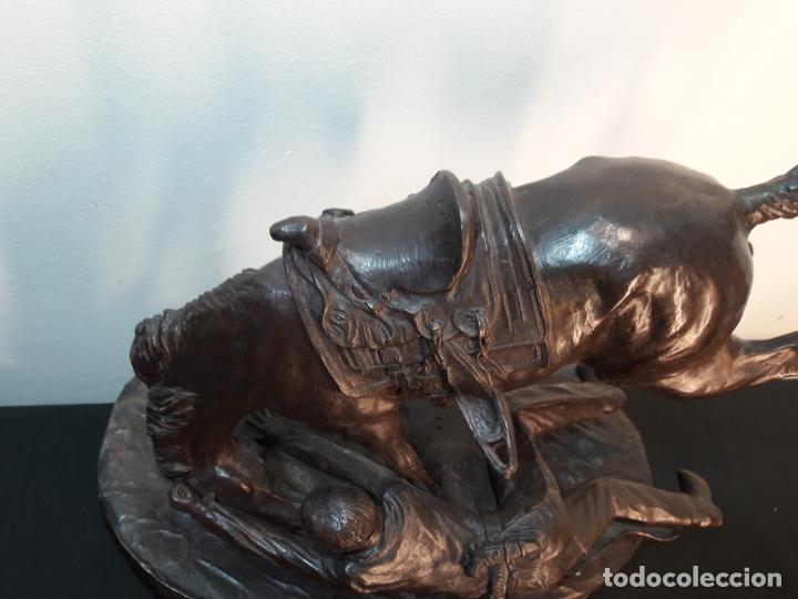 Arte: Bronce Americano caballo con jinete - Foto 3 - 145337850