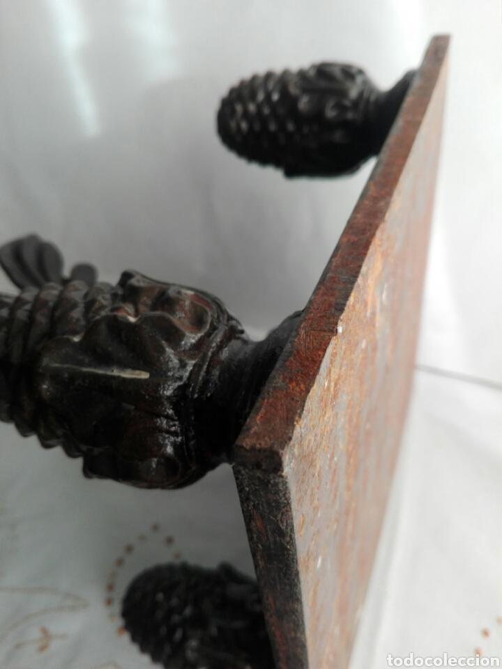 Arte: Escultura de hierro en forja flor con 4 piñas en hierro fundido Ideal remate - Foto 11 - 145499970