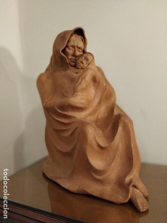 Arte: MODERNISMO TERRACOTA GITANA BASADA EN LA OBRA DE ISIDRE NONELL POR AGUSTIN PARDO 42 cm. - Foto 2 - 145824482