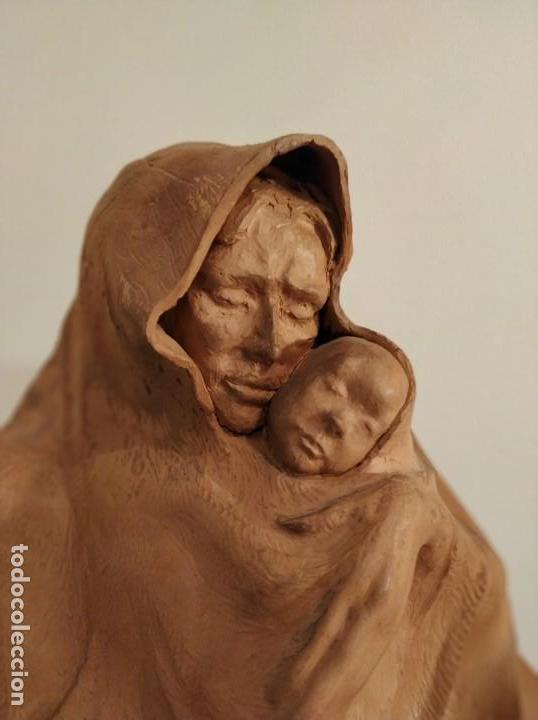 Arte: MODERNISMO TERRACOTA GITANA BASADA EN LA OBRA DE ISIDRE NONELL POR AGUSTIN PARDO 42 cm. - Foto 3 - 145824482