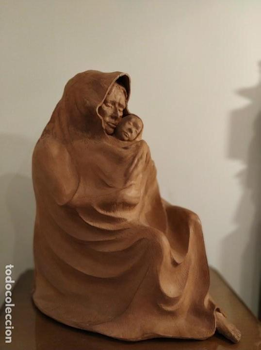 Arte: MODERNISMO TERRACOTA GITANA BASADA EN LA OBRA DE ISIDRE NONELL POR AGUSTIN PARDO 42 cm. - Foto 6 - 145824482