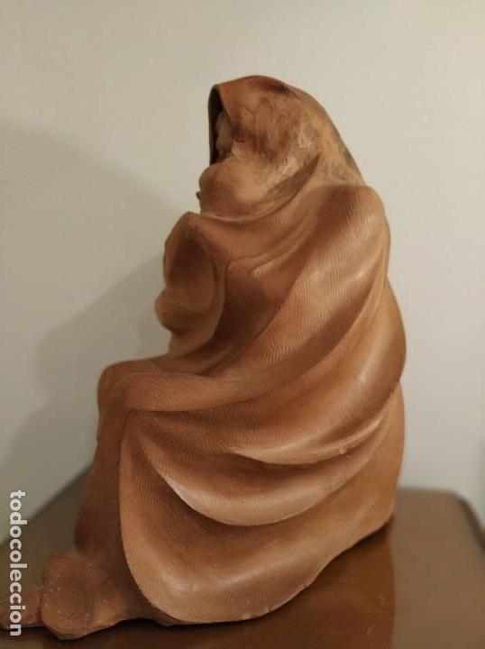 Arte: MODERNISMO TERRACOTA GITANA BASADA EN LA OBRA DE ISIDRE NONELL POR AGUSTIN PARDO 42 cm. - Foto 7 - 145824482