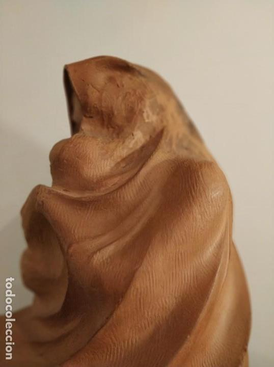Arte: MODERNISMO TERRACOTA GITANA BASADA EN LA OBRA DE ISIDRE NONELL POR AGUSTIN PARDO 42 cm. - Foto 9 - 145824482