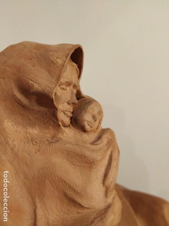 Arte: MODERNISMO TERRACOTA GITANA BASADA EN LA OBRA DE ISIDRE NONELL POR AGUSTIN PARDO 42 cm. - Foto 13 - 145824482