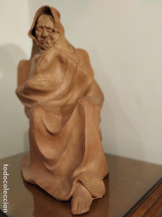 Arte: MODERNISMO TERRACOTA GITANA BASADA EN LA OBRA DE ISIDRE NONELL POR AGUSTIN PARDO 42 cm. - Foto 15 - 145824482