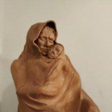 Arte: MODERNISMO TERRACOTA GITANA BASADA EN LA OBRA DE ISIDRE NONELL POR AGUSTIN PARDO 42 CM.. Lote 145824482
